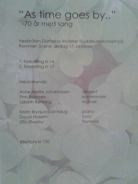 jubileumskonsert 2015, Høybråten damekor